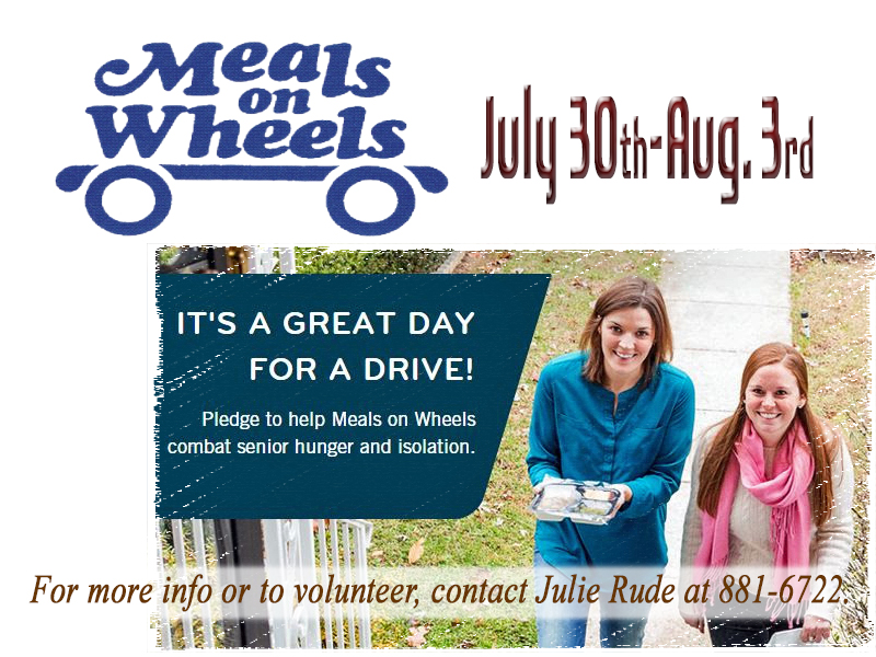 Meals on Wheels-July 2018